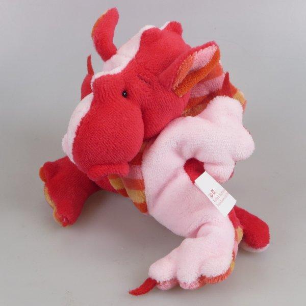 Drachenbommel klein Patchwork Rosa Rot gestreift