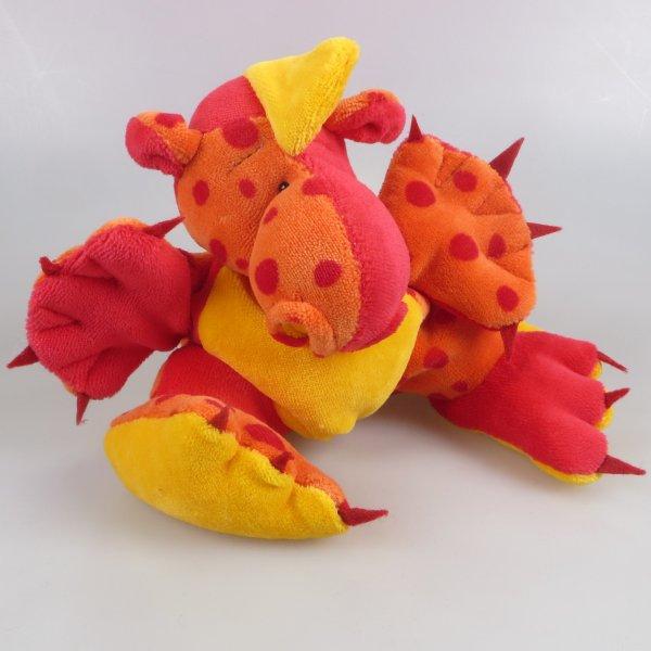 Drachenbommel groß Patchwork Rot Orange Gelb