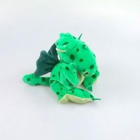 Drachenbommel Baby Grün-gefleckt mit Flügeln