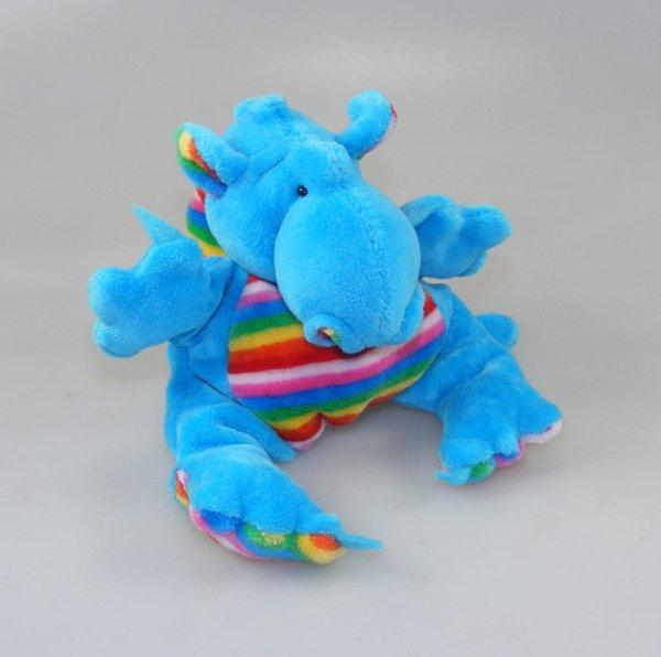 Drachenbommel Baby Blau-Regenbogen
